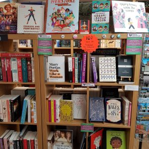 Feminist Book Fortnight Display in-store at Woodbridge Emporium